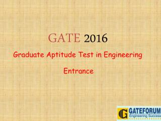 GATE Entrance Exam Preparation Tips & Tricks