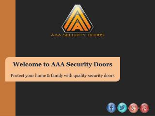 Protect Your Home & Family with Quality Security Doors
