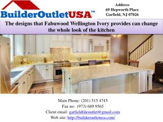 The designs that Fabuwood Wellington Ivory provides can change the whole look of the kitchen