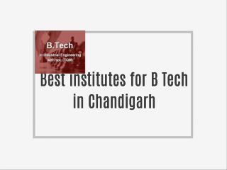 B.Tech In Industrial Engineering