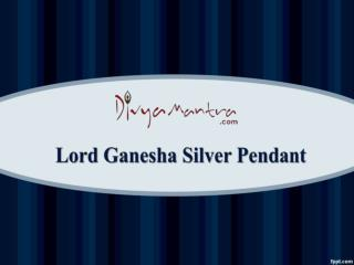 Buy Divya Mantra Lord Ganesha Silver Pendant Get Rs.100 Off Upto