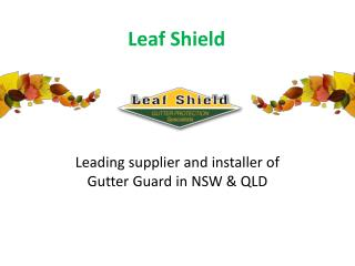 Leading supplier and installer of Gutter Guard in NSW & QLD