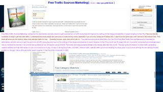 Free Web Traffic Sources Marketing