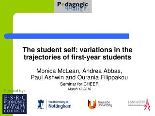 The student self: variations in the trajectories of first-year students