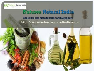 Organic Essential Oils Wholesale and Suppliers at Naturesnaturalidia.com
