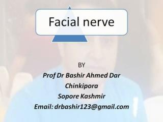 7th nerve paralysis by Prof Dr Bashir Ahmed Dar Sopore Kashmir