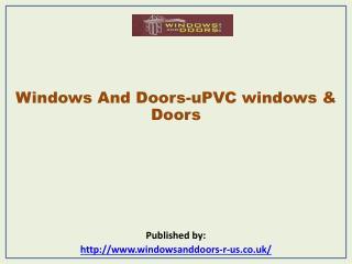 Windows And Doors-uPVC windows & Doors