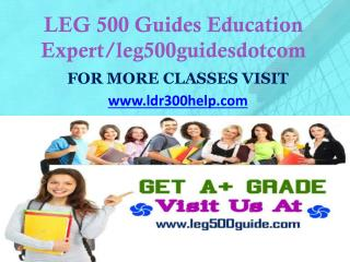 LDR 300 Help Education Expert/ ldr300helpdotcom