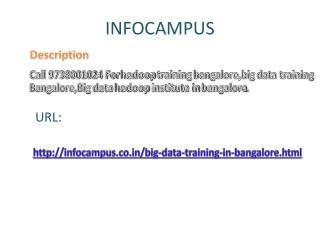 Big data training institute in bangalore