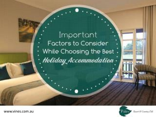 Find a Perfect Holiday Accommodation in Swan Valley