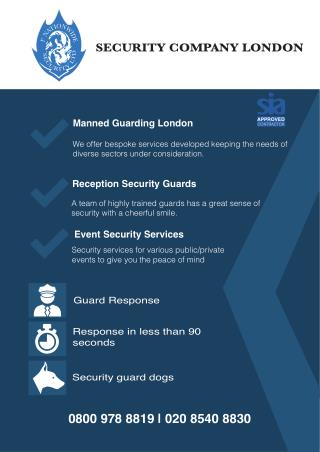 Manned Guards Security London