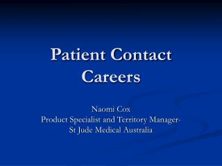 Patient Contact Careers