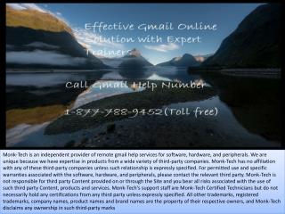 Follow the best services with gmail help 1-877-788-9452