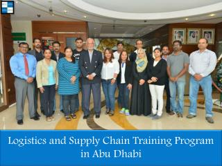 Logistics and Supply Chain Training Program in Abu Dhabi