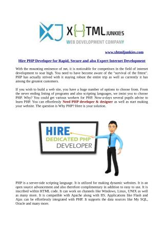Hire php developer for rapid, secure and also expert internet development