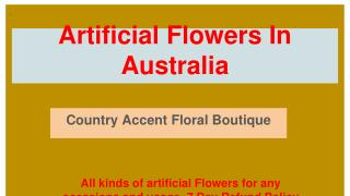 Best Artificial Flowers For Different Occasions in Australia