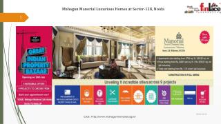 Book Homes at Mahagun Manorial in Sector 128, Wishtown Noida