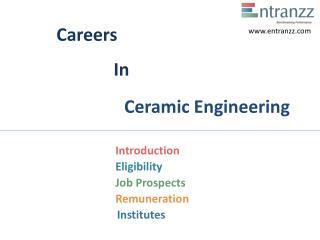 Careers In Ceramic Engineering