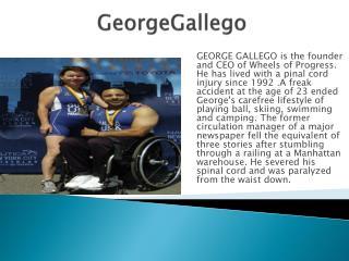 George Gallego founder of Wheels of Progress