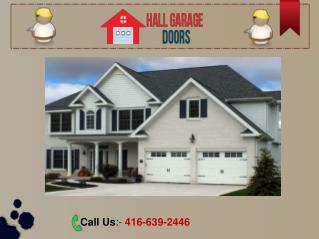 Garage Door Services - Repair, New Installation, Replacement & Maintenance in Toronto – 416-639-2446