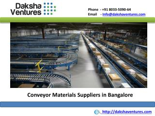 Conveyor Materials Suppliers in Bangalore