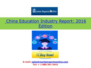 2018 Forecasts for China Education Industry