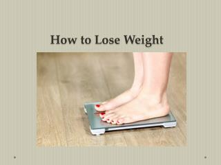 Foods to Help You Lose Weight