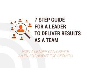 7 Step Guide For a Leader To Deliver Results As a Team