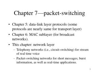 Chapter 7 packet-switching