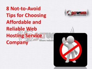 Affordable web hosting Service provider