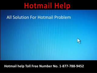 Instant call  on 1-877-788-9452 Hotmail Technical Support  Number