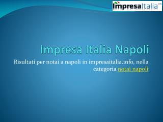 Impresa Italia Napoli
