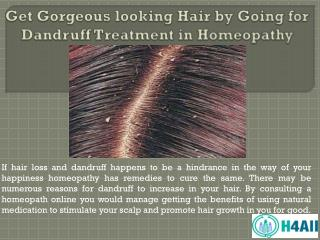 Get Gorgeous looking Hair by Going for Dandruff Treatment in Homeopathy