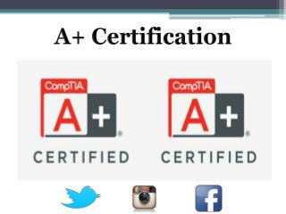 A  Certification Preparation Training Programs