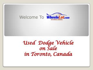 Used Dodge Grand Caravan on Sale in Toronto