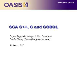 SCA C, C and COBOL