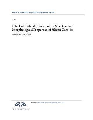 Biofield Impact on Morphological Properties of Silicon Carbide