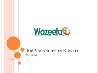 Job vacancies in Kuwait