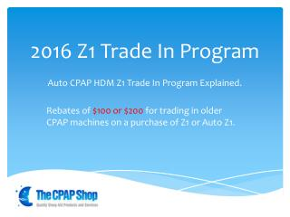 Z1 Trade In Program 2016