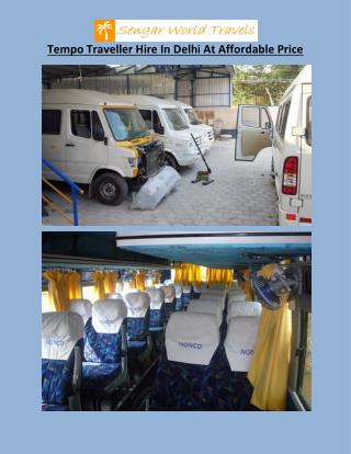 Tempo Traveller Hire In Delhi At Affordable Price
