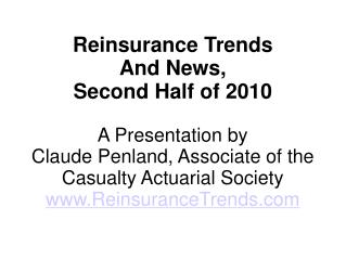 REINSURANCE NEWS TRENDS