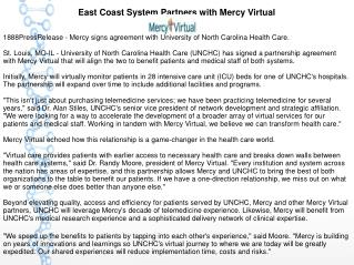 East Coast System Partners with Mercy Virtual