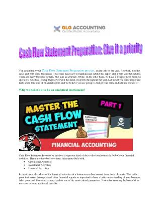 GLG Accounting | Comprehensive Cash Flow Statement Preparation