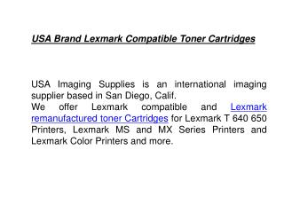 USA Brand Lexmark Compatible Toner Cartridges