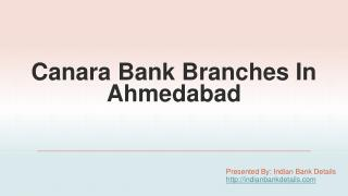 MICR code of canara Bank branches in ahmedabad