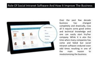 Social Intranet Software, Online Collaboration Software