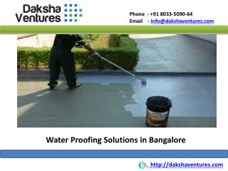 Water Proofing Solution in Bangalore