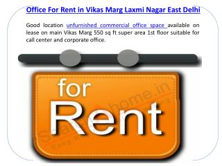 Commercial Office For Rent in Laxmi Nagar