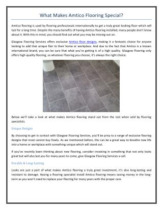 What Makes Amtico Flooring Special?