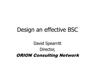 Design an effective BSC